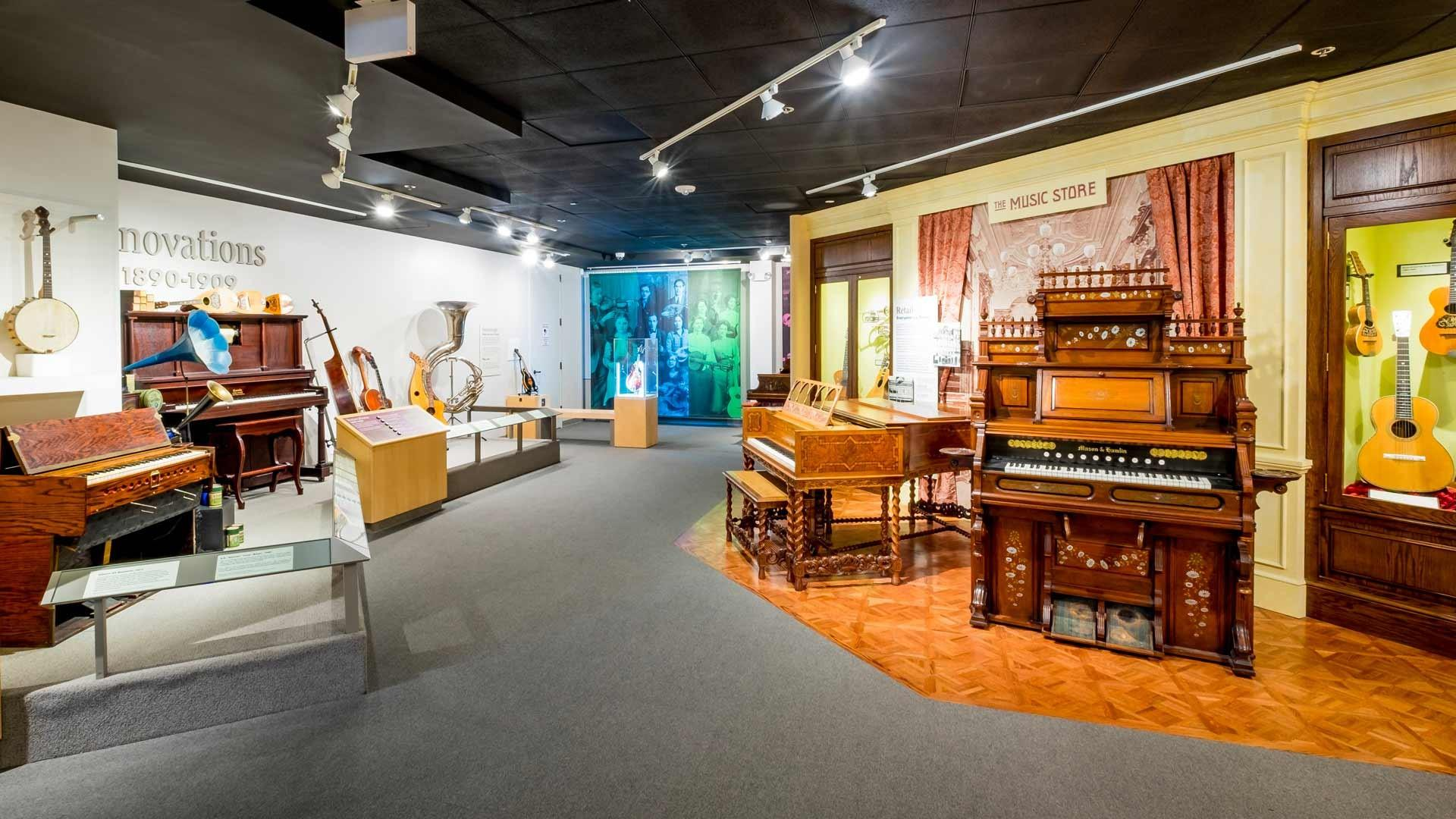 An image of Gallery 1 of the Museum of Making Music