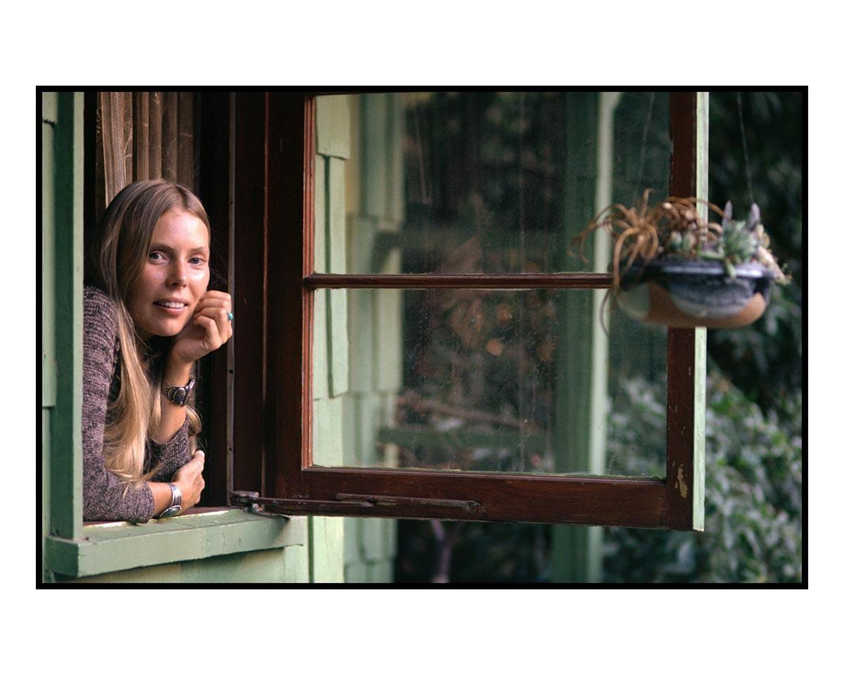 Joni Mitchell, Windowsill, Laurel Canyon, CA, 1970