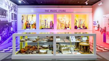 An image of Gallery 2 Storefront Display in the Museum of Making Music