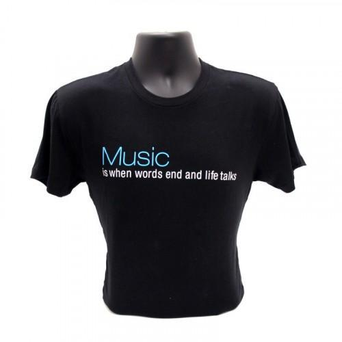 "T-Shirt ""Music is When Words End..."""