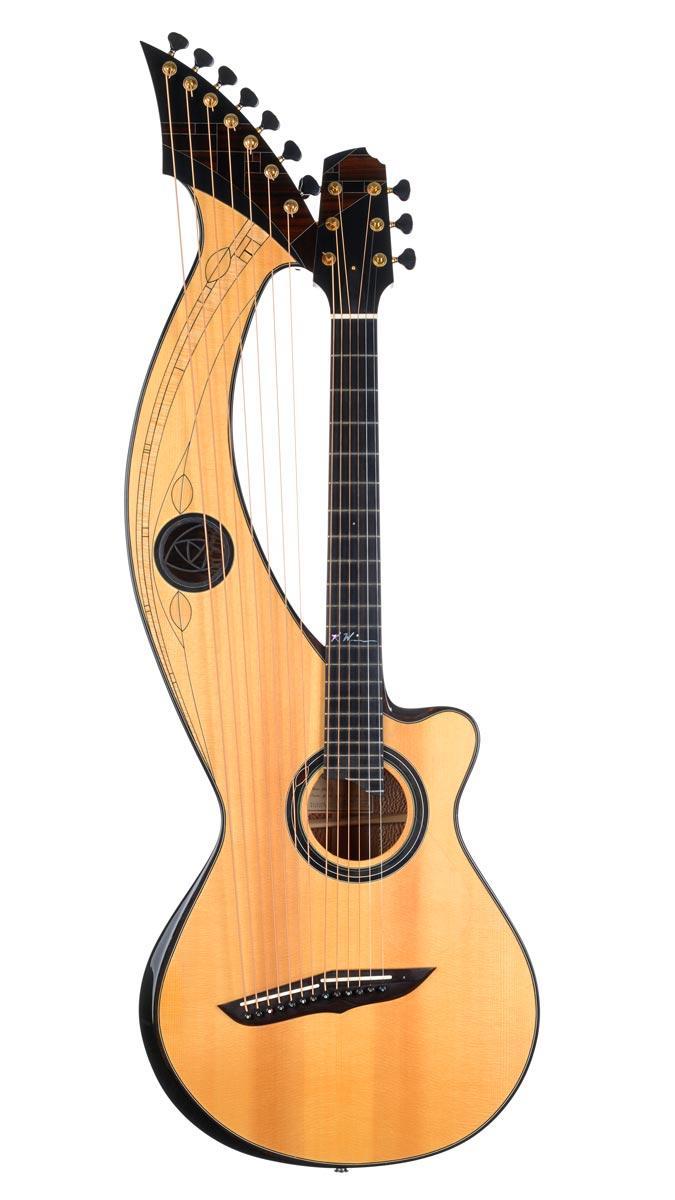 floating strings harp guitar museum of making music. Black Bedroom Furniture Sets. Home Design Ideas